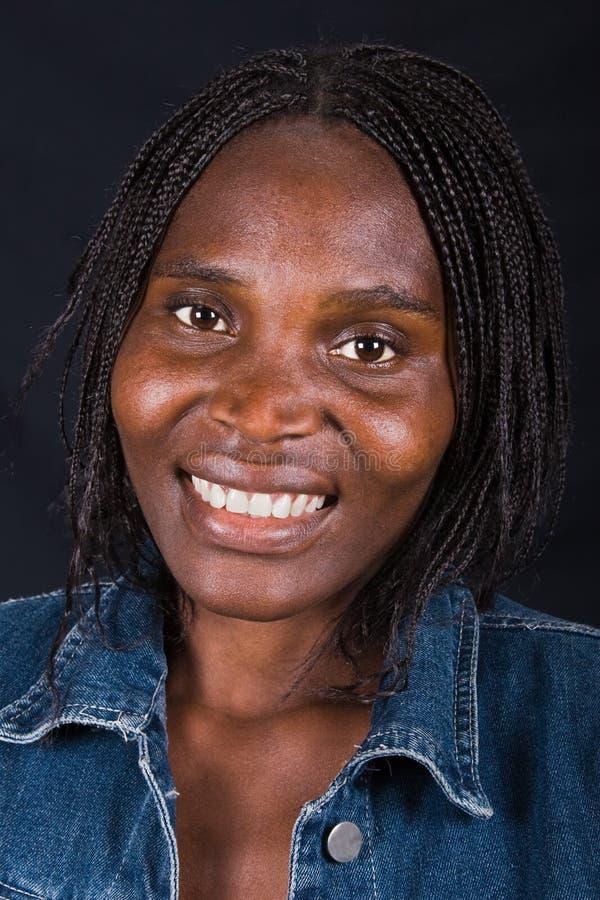 Menina africana nova foto de stock