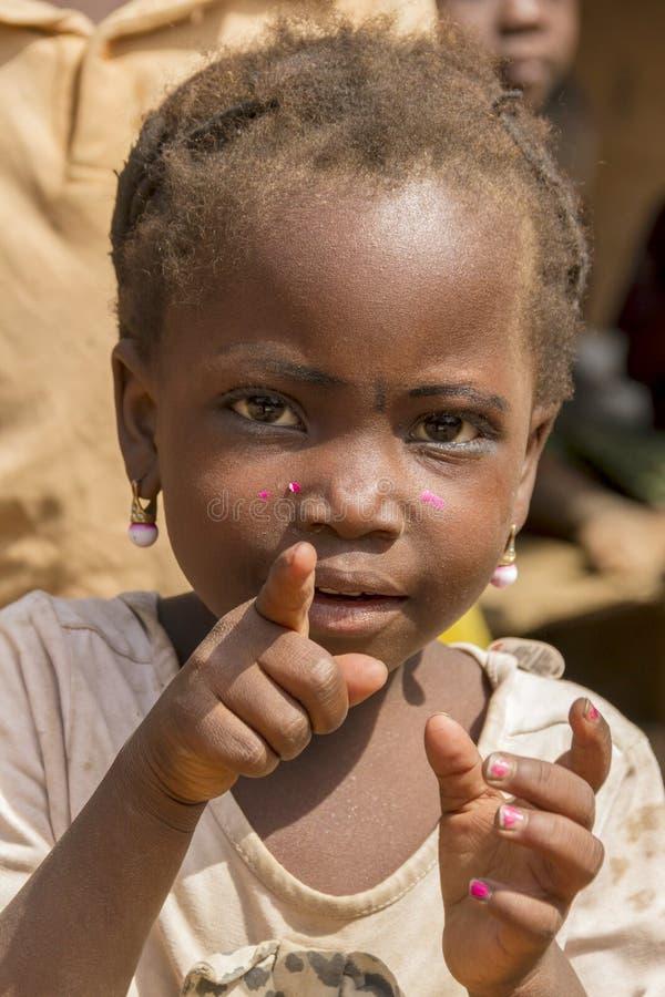 Menina africana pequena imagem de stock