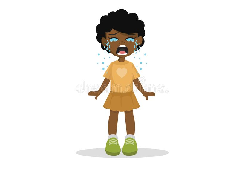 Menina africana que está de grito imagem de stock
