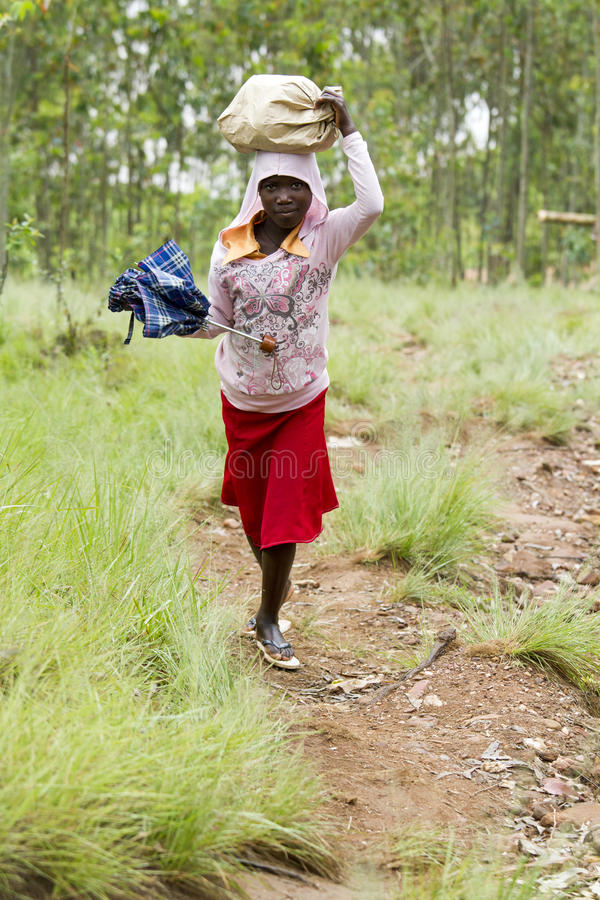 Menina africana - Ruanda imagens de stock royalty free