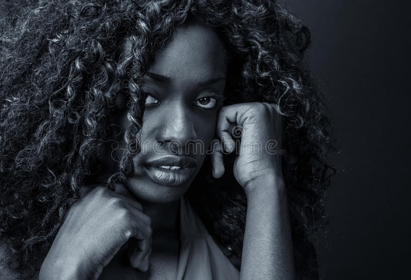 Menina africana triste imagem de stock royalty free