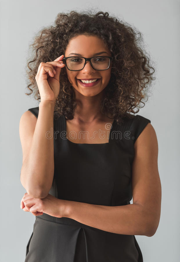 Menina afro-americana bonita foto de stock royalty free
