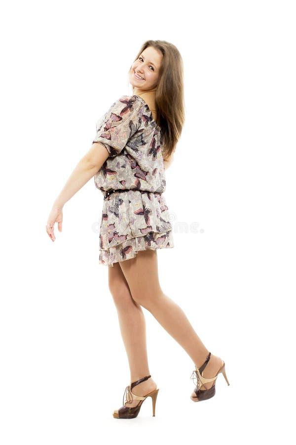 A menina alegre foto de stock royalty free