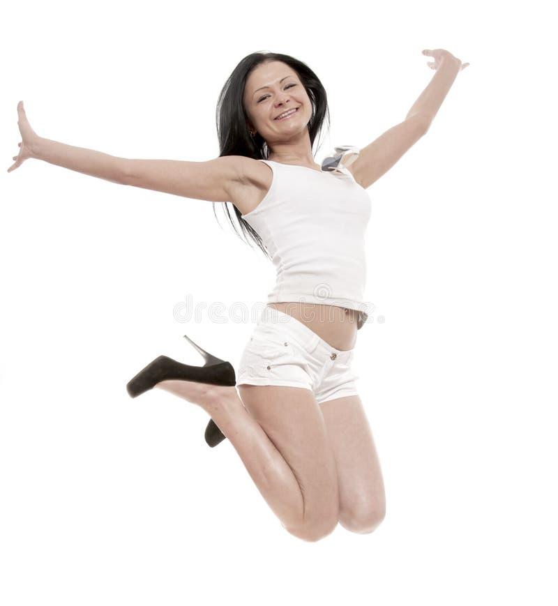 A menina alegre fotos de stock royalty free