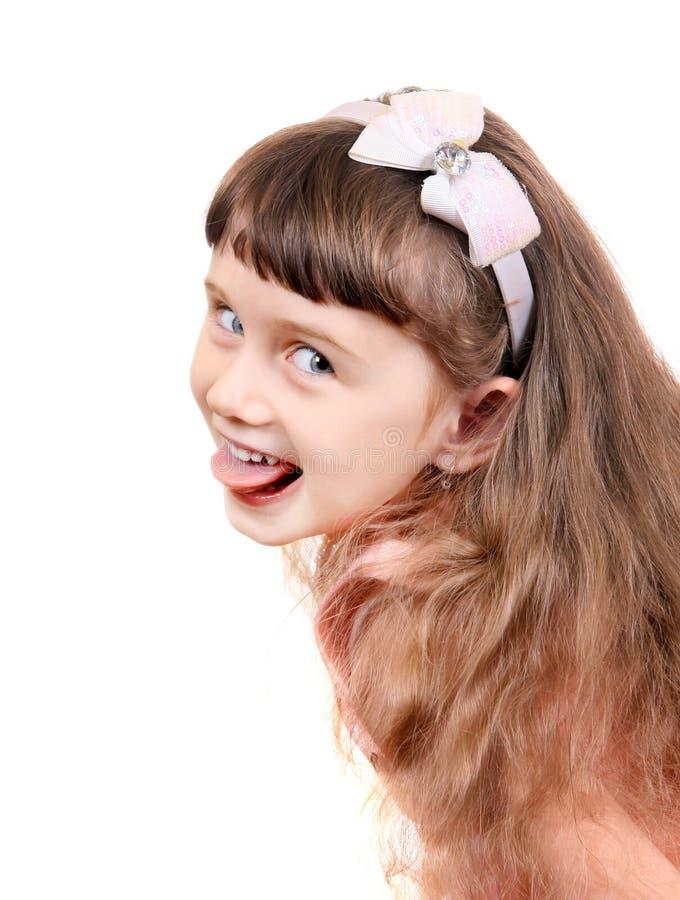 Menina alegre foto de stock