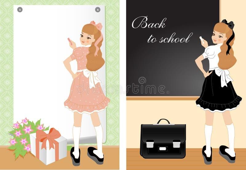 Menina alegre ilustração do vetor