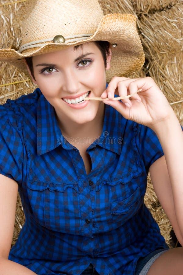 Menina alegre do país fotografia de stock
