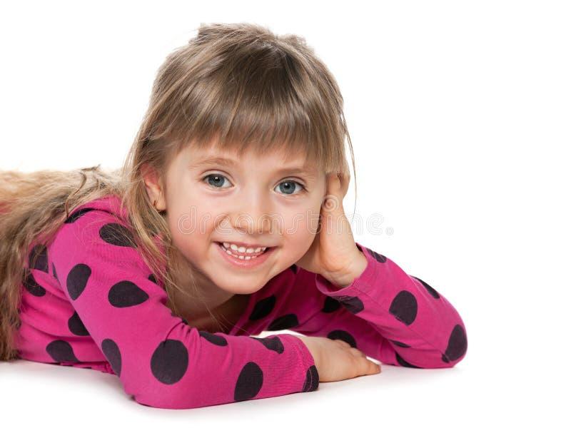 A menina alegre imagina imagens de stock royalty free
