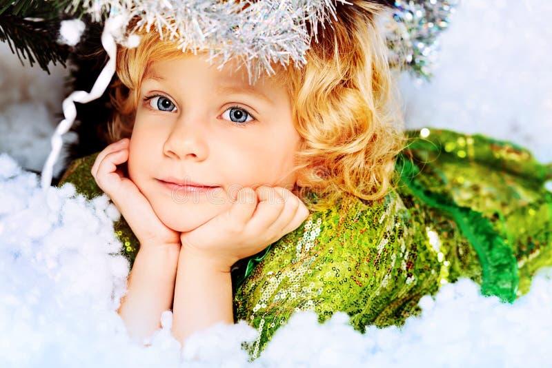 Menina angélico fotografia de stock