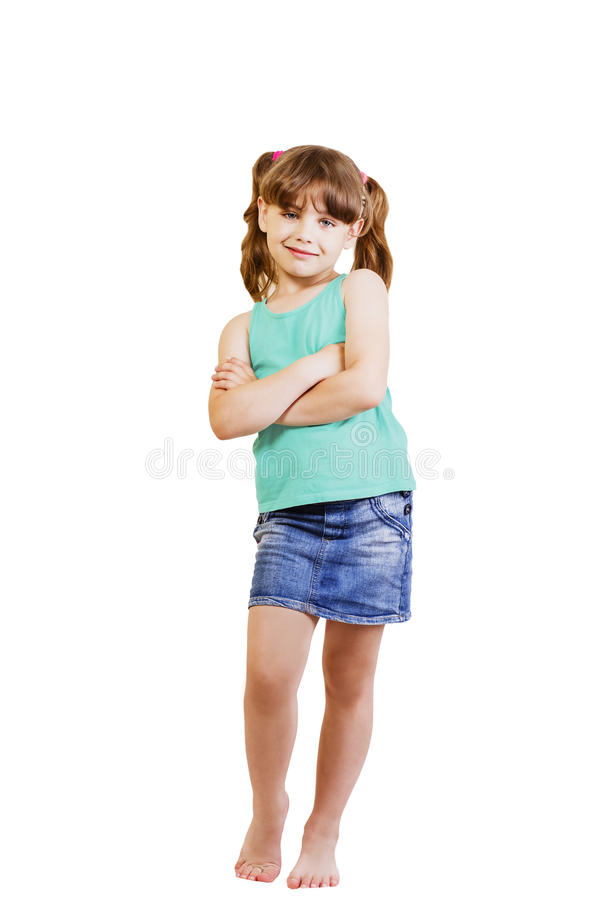 Menina 5-6 anos fotografia de stock