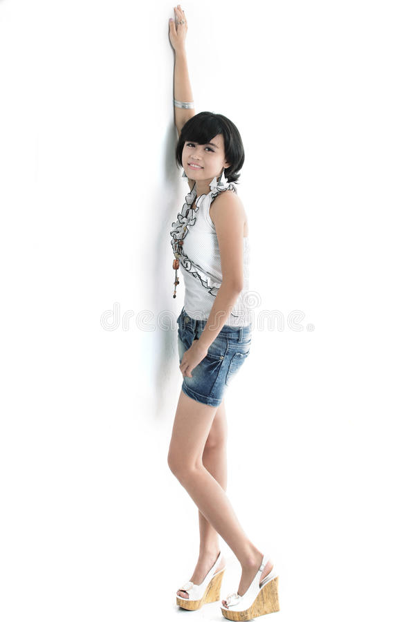 Menina asiática adorável fotografia de stock royalty free