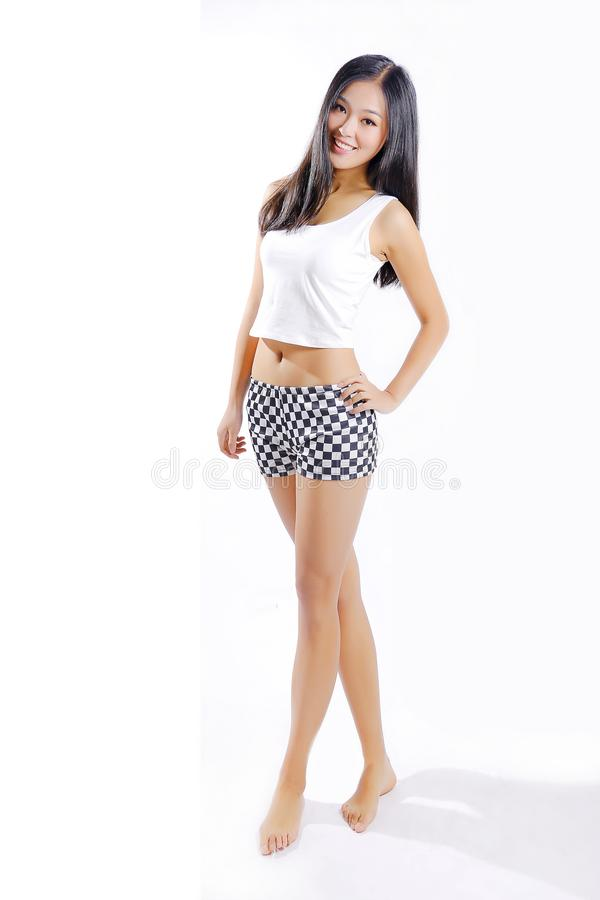 Menina asiática bonita imagem de stock