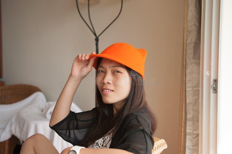 Menina asiática bonita fotografia de stock royalty free