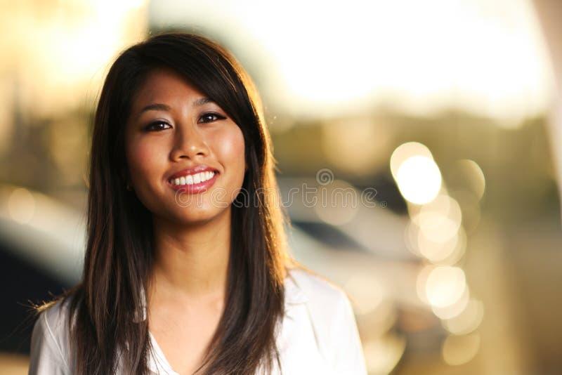 Menina asiática bonita imagens de stock