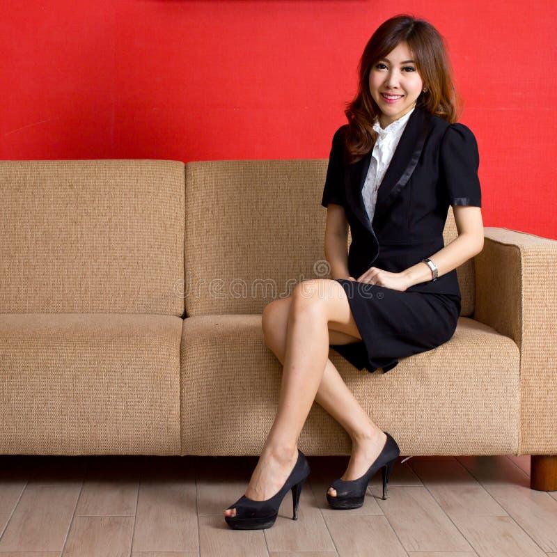 Menina asiática bonita do retrato imagem de stock