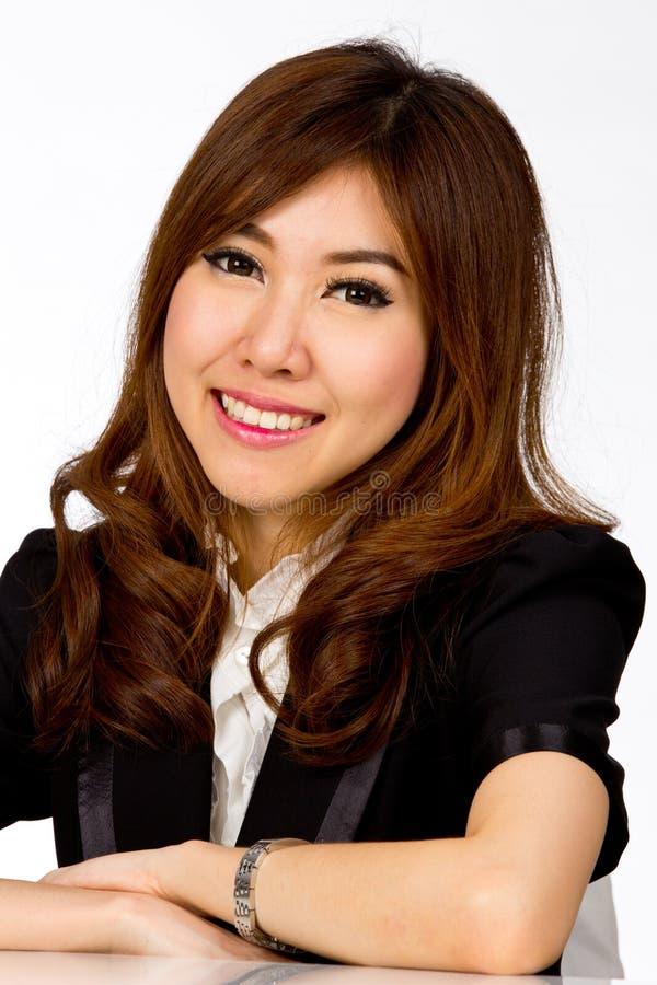 Menina asiática bonita do retrato imagens de stock royalty free