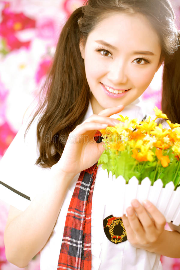 Menina asiática bonito imagens de stock royalty free
