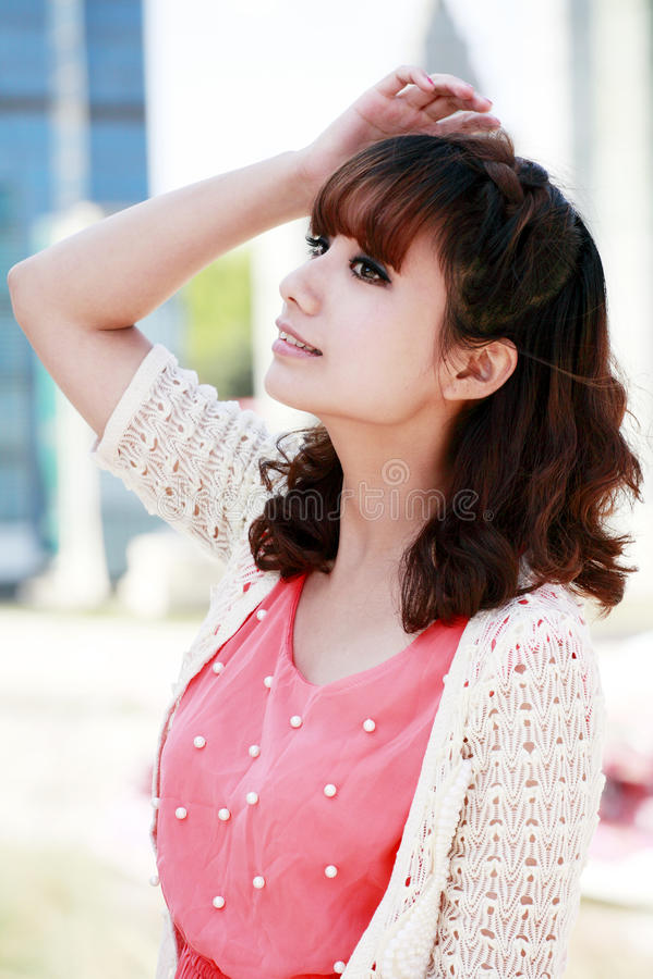 Menina asiática da forma imagens de stock royalty free