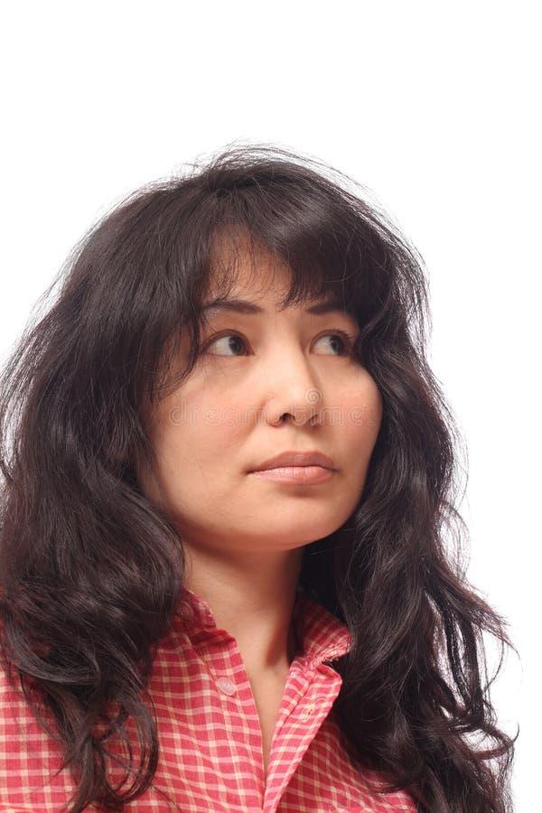 Menina asiática de cabelos compridos fotos de stock