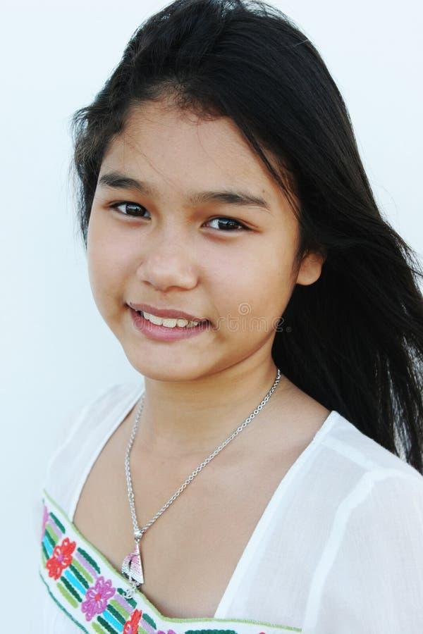 Menina asiática de vista natural imagens de stock royalty free