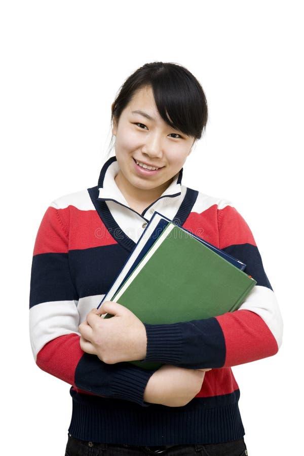Menina asiática do estudante imagens de stock royalty free