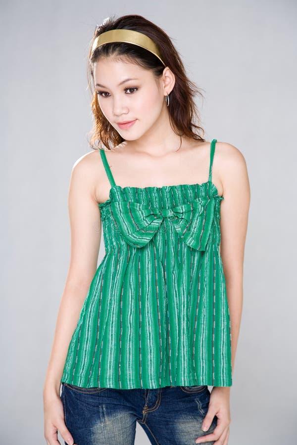 Menina asiática doce imagens de stock