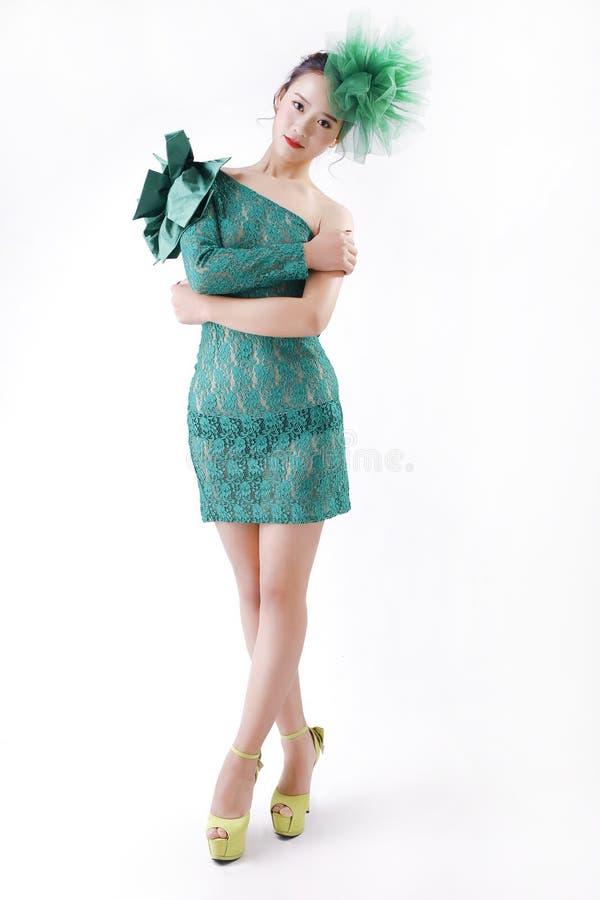 Menina asiática encantadora foto de stock