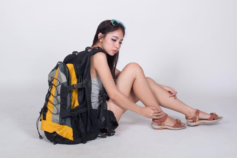 Menina asiática no conceito do curso foto de stock royalty free