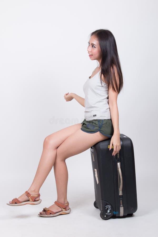 Menina asiática no conceito do curso imagens de stock royalty free