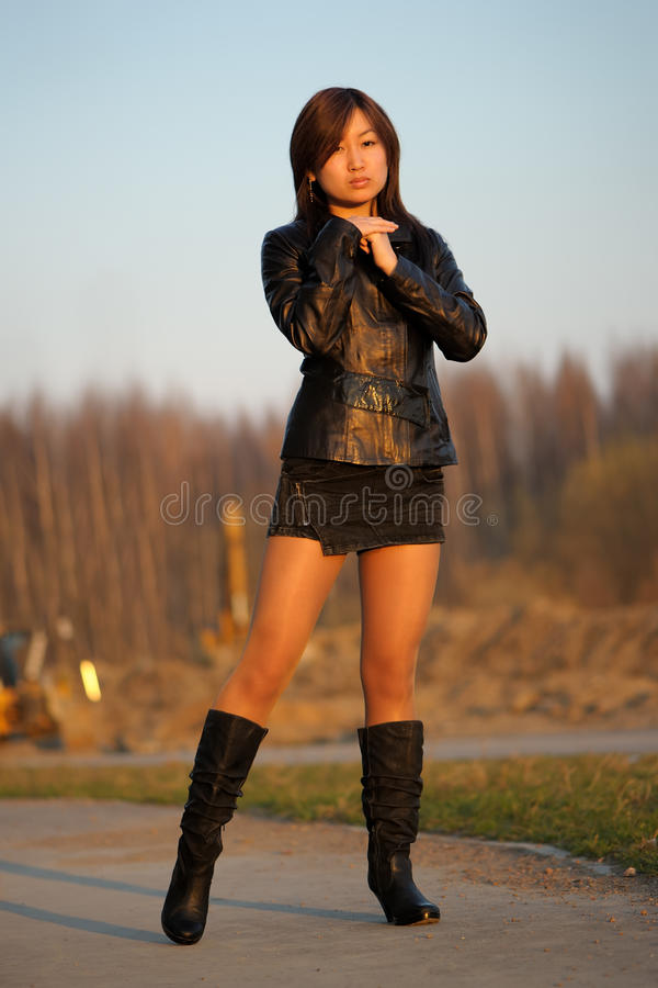 Menina asiática nova fotografia de stock royalty free