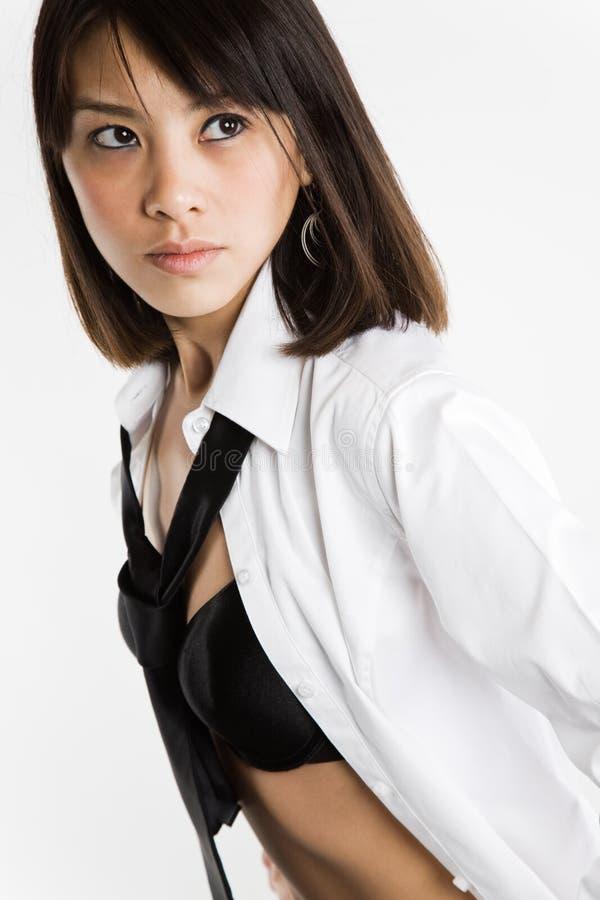 Menina asiática 'sexy' bonita fotografia de stock royalty free