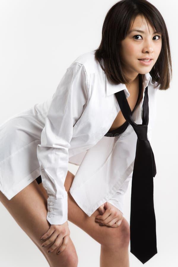Menina asiática 'sexy' bonita foto de stock royalty free