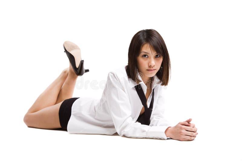 Menina asiática 'sexy' bonita fotografia de stock