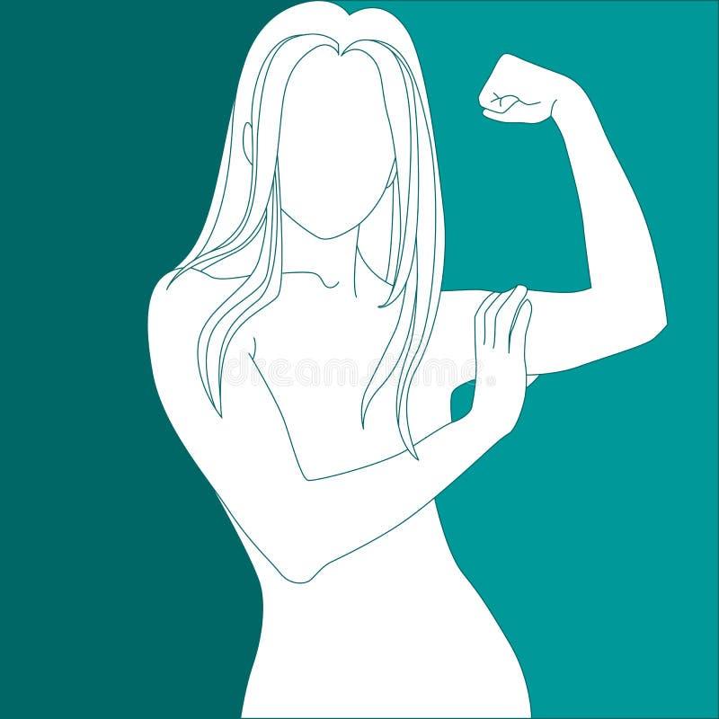 Menina atlética ilustração royalty free
