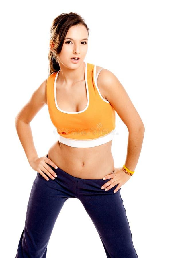 Menina atlética bonita imagem de stock