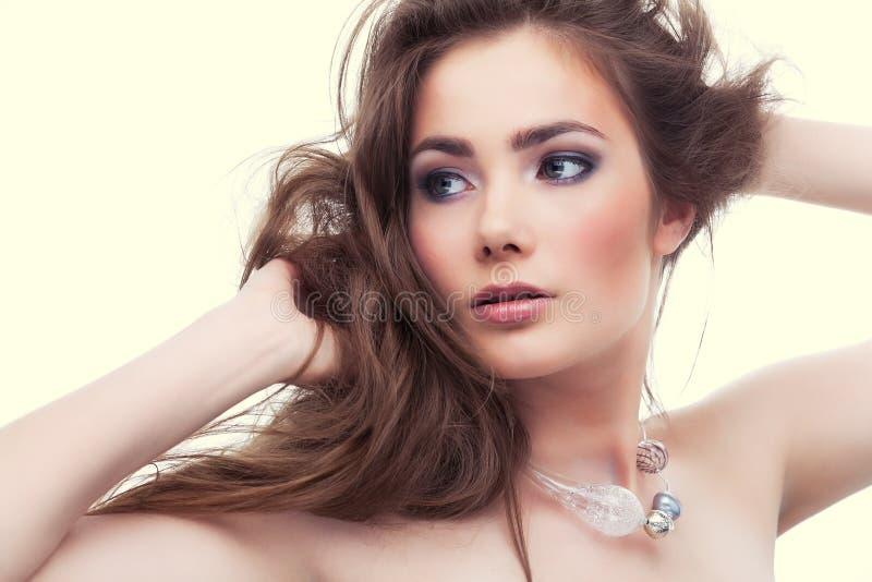 Menina atrativa foto de stock royalty free