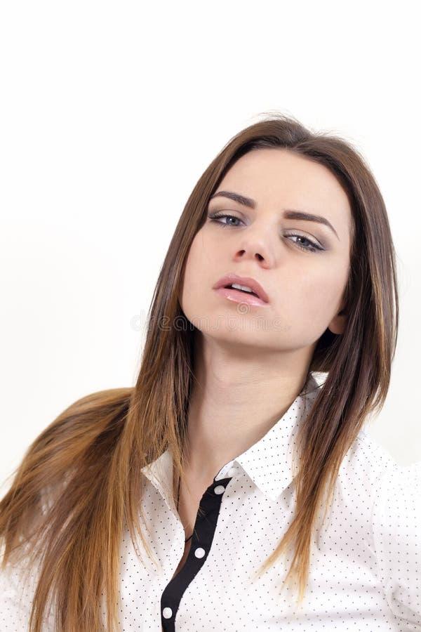 a Menina-atriz retrata emoções fotos de stock royalty free