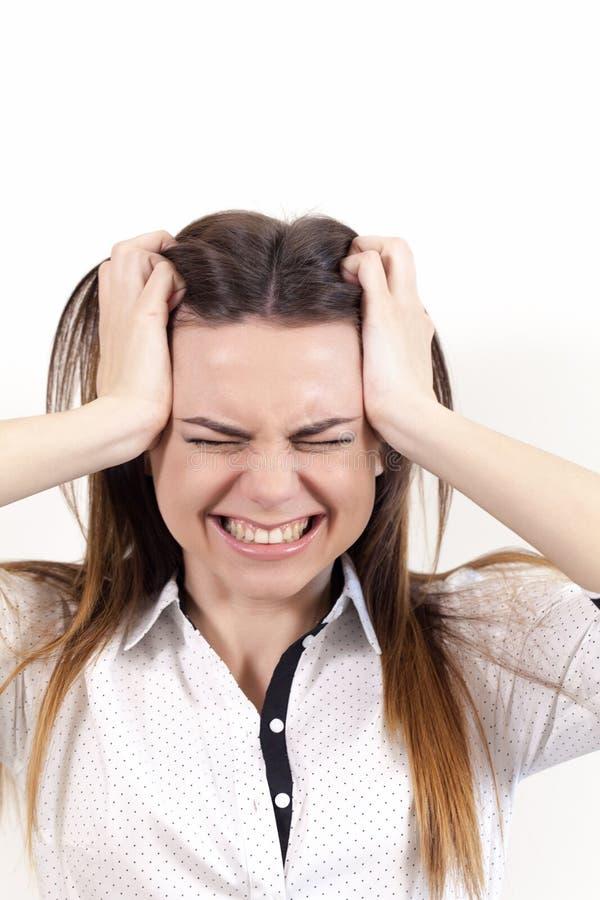 a Menina-atriz retrata emoções foto de stock royalty free