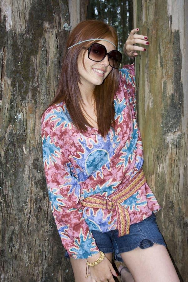 Menina bautiful do Hippie fotos de stock royalty free