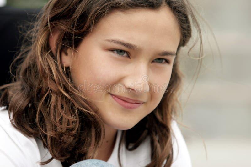 Download Menina bonita imagem de stock. Imagem de feliz, brunette - 110467