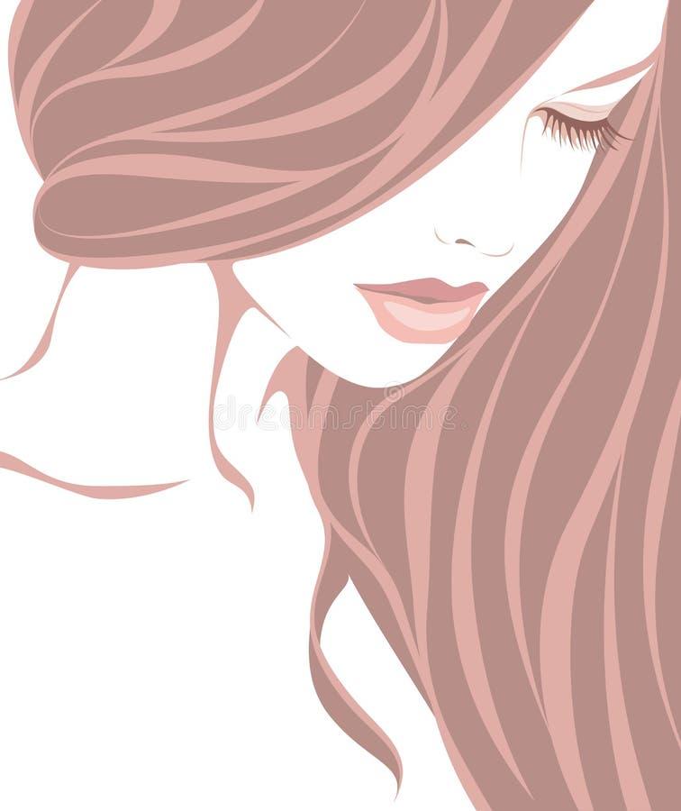 Menina bonita ilustração stock