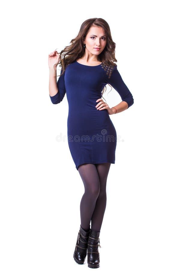Menina bonita agradável no vestido imagem de stock royalty free