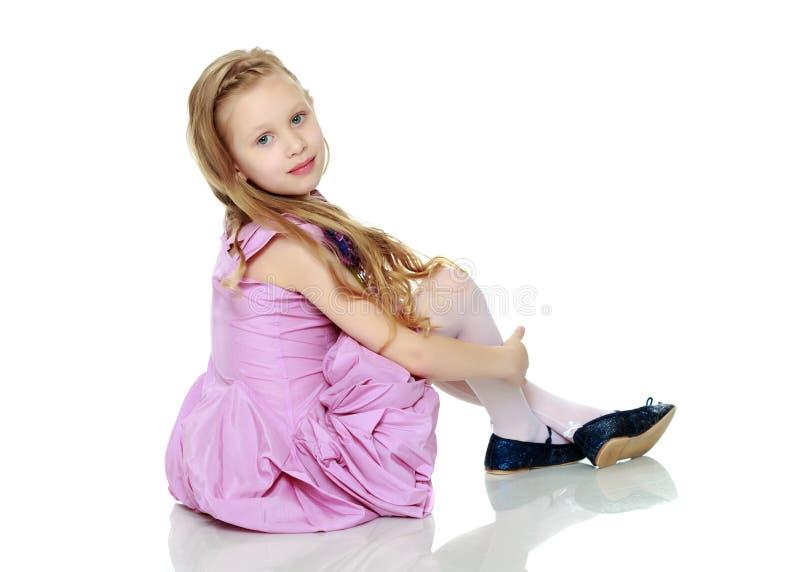 Menina bonita 5-6 anos foto de stock
