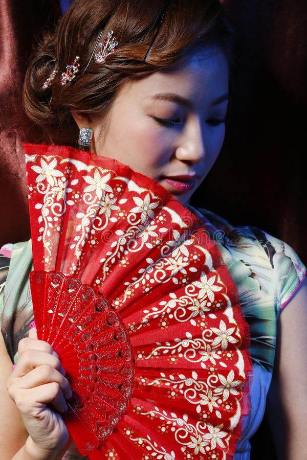 Menina bonita asiática imagens de stock