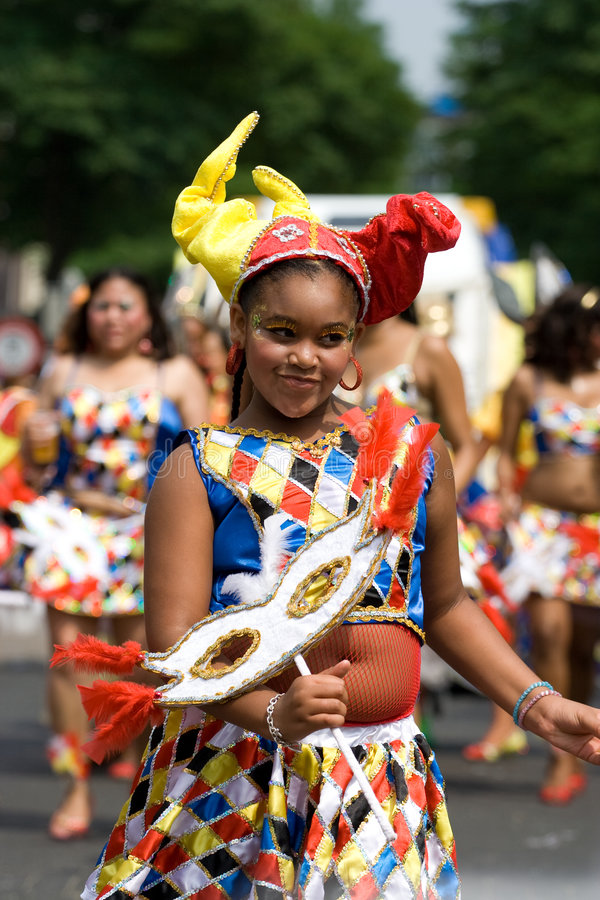 Menina bonita carnaval imagem de stock royalty free