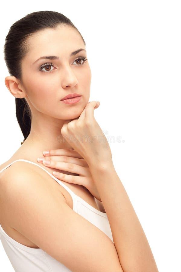 Menina bonita com pele saudável fotografia de stock royalty free