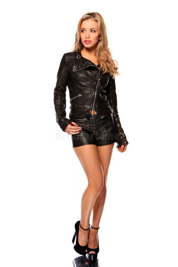 Menina bonita com relance tímido foto de stock royalty free
