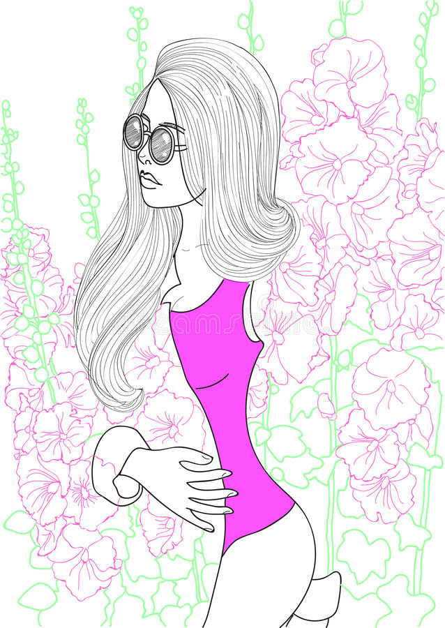 Menina bonita da fôrma ilustração royalty free