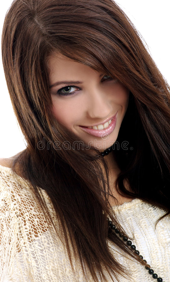 Menina bonita da forma foto de stock