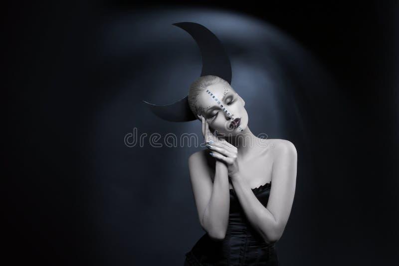 Menina bonita da lua imagens de stock royalty free